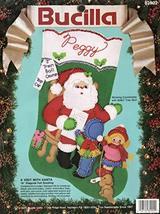 """Bucilla """"A Visit from Santa"""" Felt Applique Stocking Kit 82902     - $38.22"""
