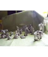 Nativity Set of 16 Pieces-Ceramic Vintage - $105.00