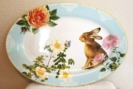 Williams Sonoma Spring Garden Bunny Oval Platter 16x11 Nwot - $65.00