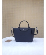 Longchamp Le Pliage Medium Graphite Grey Handbag Neo Shoulder Strap 1512... - $79.99