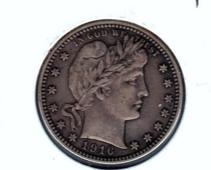Nice 1916 D Quarter in X.F.