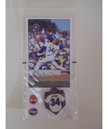 Nolan Ryan 1996 pin & card Texas Rangers stadium giveaway SGA - New - $5.00