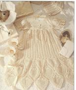 2 COMPLETE CHRISTENING ENSEMBLES~THREAD CROCHET... - £27.05 GBP