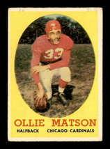 VINTAGE NFL 1958 Topps #127 Ollie Matson  G/VG - $11.79