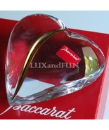 BACCARAT HEART OF PASSION PAPERWEIGHT CRYSTAL AND GOLD - NEV - $310.00