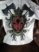 XX-Large Short Sleeve Shirt White with Embroidery Front & Back - $50.00