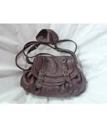 Abaco Paris Dana Java Aubergine Leather Handbag Crossbody  - $250.00