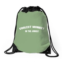 Coolest Monkey In The Jungle Drawstring Bags - $32.00