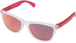 Oakley Men's Frogskins Non-Polarized Iridium Square Sunglasses, Matte Clear, 55. - $99.99