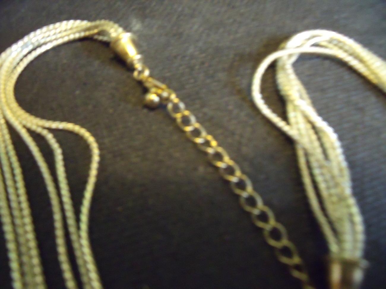 Two Tone Muti Strand Necklace