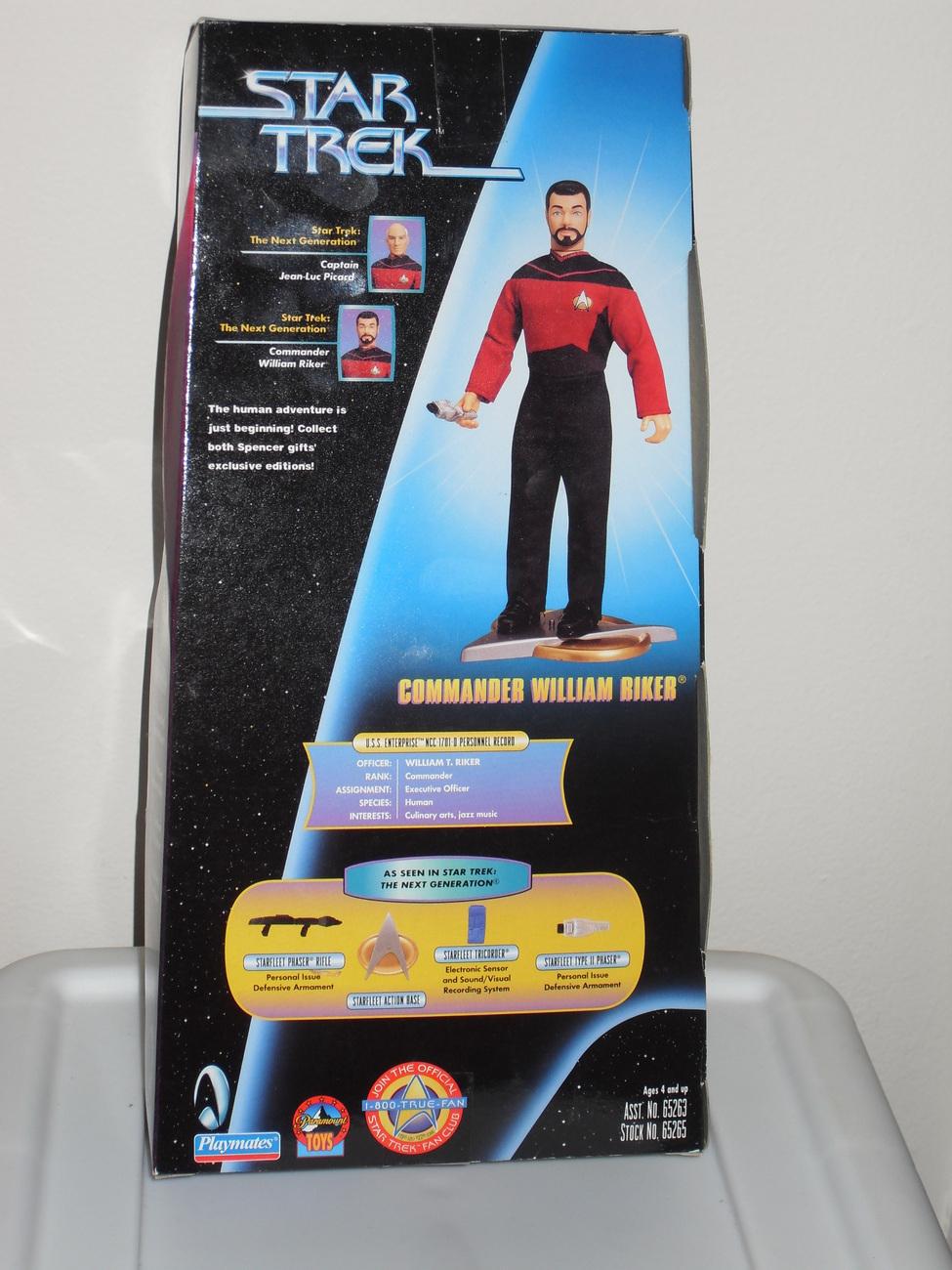 1997 Star Trek William Riker Action Figure New In Box  Spencer Gifts Exclusive