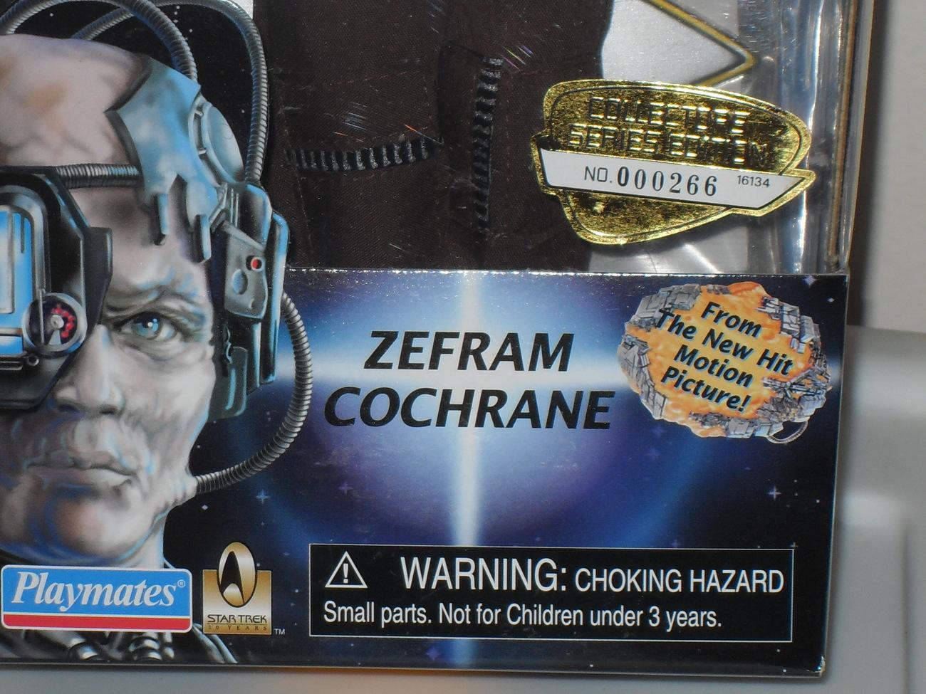 1996 Star Trek Zefram Cochrane Action Figure New In The Box