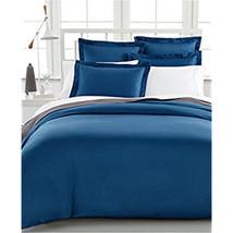 Charter Club Damask Solid 500t Denim (Blau) Doppelbett / Queen Bettbezug... - $74.19