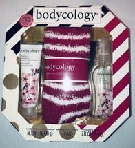 Bodycology Gift Set New In Box Cherry Blossom, Soft Socks! - $16.99