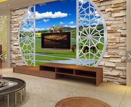 3D Grüne Prärie 1545 Fototapeten Wandbild Fototapete BildTapete Familie - $52.21+