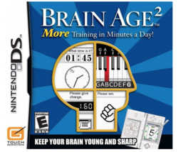 Brain Age 2: More Training in Minutes a Day (Nintendo DS, 2007) - VERY GOOD - $7.91