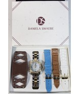 Daniela Swaebe Wrist Watch Set ladies 5 bands rhinestone bling wristwatc... - $47.77
