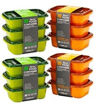 Food Storage Containers 12-Piece 520ml 17.5oz BPA Free Durable Colorful Design P