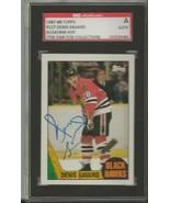 Denis Savard 1987 Topps Autograph #127 SGC Blackhawks - $55.98