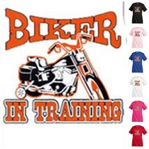 BIKER IN TRANING T-shirt Kid's Children Unisex Girl Boy Funny KP258 - $12.99