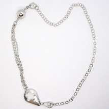 SILVER 925 NECKLACE, CHAIN ROLO' MULTIPLE STRINGS, DOUBLE DROP, FLOWER, SPHERE image 2