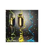 New Years Eve Pop 16 Beverage Napkins Champagne Party - $3.79