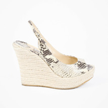 Jimmy Choo Polar Snakeskin Espadrille Sandals SZ 40 - $185.00