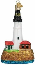 Old World Christmas Portland Head Lighthouse Glass Christmas Ornament 20117 - $15.88