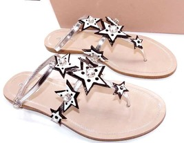 $720 Miu Miu - Prada Star Jeweled Patent Leather Thong Sandal Flip Flop ... - $299.99