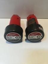Lot of Two Milwaukee 48-11-2001 M4 4-Volt Lithium-Ion 2.0Ah Battery Batt... - $58.40