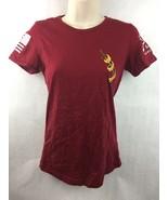 Grunt Style Women's Maroon Tick Licker Firearms Cotton Shirt Size Small - $14.01