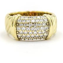 David Yurman Metro Ring Wide Band with Pave Diamonds in 18k Yellow Gold - $2,123.55