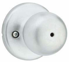 2x Weiser Fairfax Satin Chrome Privacy Set Bathroom Bedroom Door Knob Handle NEW image 2