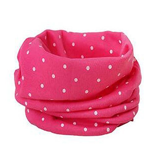 2PCS Kids Warm Cotton Scarves Boys Girls Neckerchiefs Cute Multicolor Design