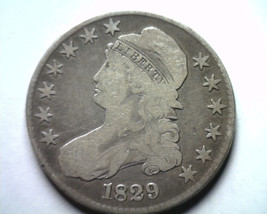 1829 BUST HALF DOLLAR O.115 FINE / VERY FINE F/VF NICE ORIGINAL COIN BOB... - $95.00