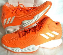 adidas SM Mad Bounce Mens 12.5 D97371 Basketball Shoes Orange & White 2018 - $68.69
