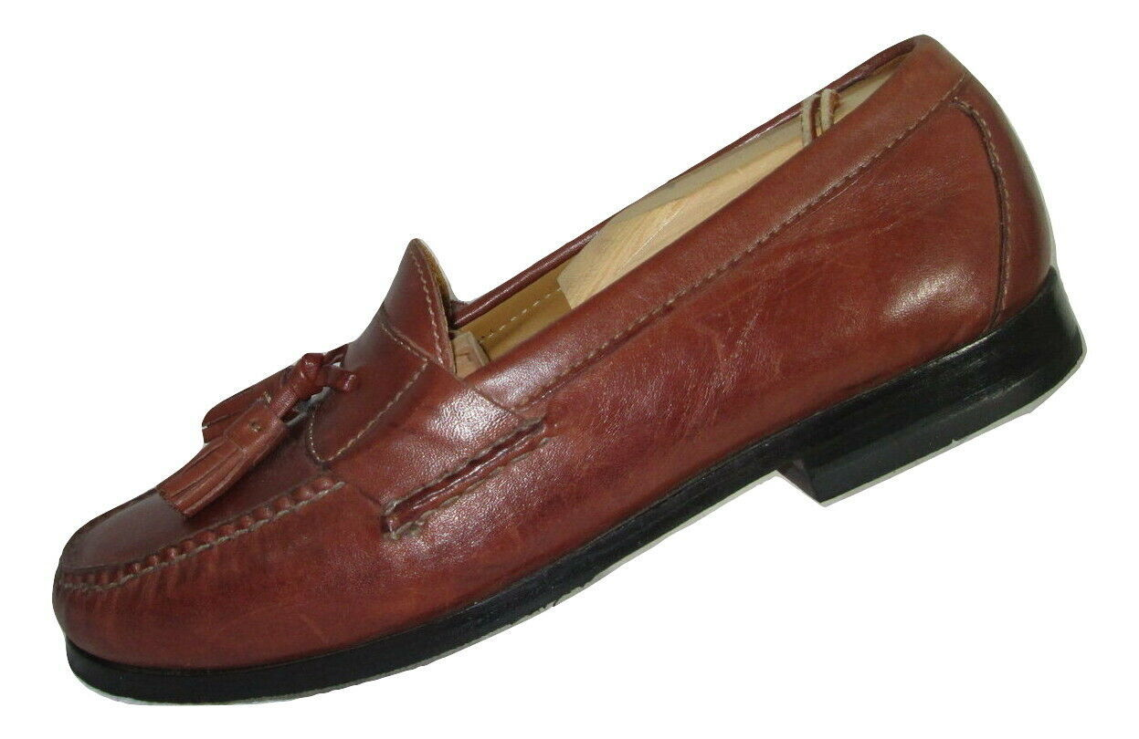 Cole Haan Shoes Size 7.5 Loafers Mens Brown Leather Tassels C06982 India  image 2