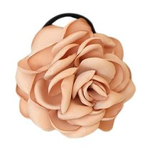Elegant Flowers Ponytail Holders Hair Rope Hair Accessories(Champagne)