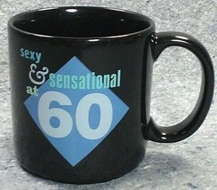 Sensational 60 Coffee Mug Sixty Birthday RUSS BERRIE Sexy Senior UK Black - $7.40