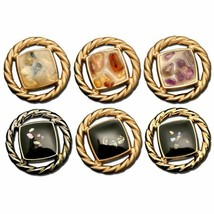 12Pc Women Round Hollowed Metal Button for Clothing Blouse Pop Sweater T... - $24.99