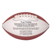Custom Mini Football To Our Grandson Graduation, Birthday, Christmas Gift - $34.95