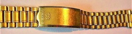 "NOS Seiko Watch Gold-tone Top Bracelet Watch Band Japan B 6 3/4"" - $39.95"