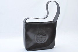 GUCCI Enamel Shoulder Bag Dark Brown Auth ar679 **Sticky - $94.05