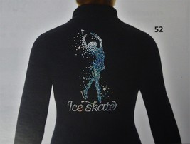 Mondor Model 24488 Polartec Skating jacket With Sequin Applique Black ch... - $110.00