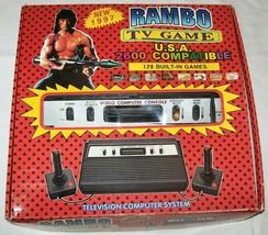 NEW NIB NOS Rambo TV Games Atari 2600 Clone legendary game console 128 Games #02 - $180.00