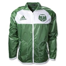 MENS ADIDAS PORTLAND TIMBERS MLS FZ TRACK WIND JACKET XL PACKABLE CLIMA ... - $46.71