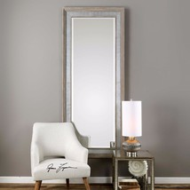 "New Huge 82"" Aged Wood With Rust Tin Beveled Wall Vanity Mirror Rustic Western - $455.80"