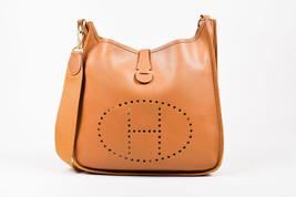 """Hermes 'Gold' Brown Courchevel Leather """"Evelyne I GM"""" Shoulder Bag - $2,305.00"""