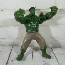 2011 Hasbro Hulk Fist Smashing Squeeze Legs Arms Drop Jaw Opens Action F... - $14.06