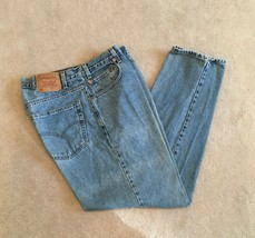 Vintage LEVI 506 Red Tab Loose Fit Tapered Leg Men's Blue Jeans - Size 3... - $29.65